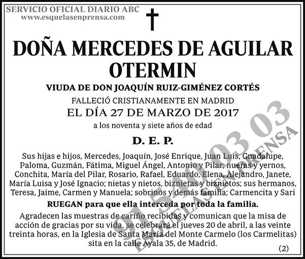 Mercedes de Aguilar Otermin